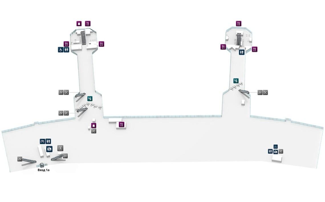 Схема 0 этажа аэропорта «Домодедово»