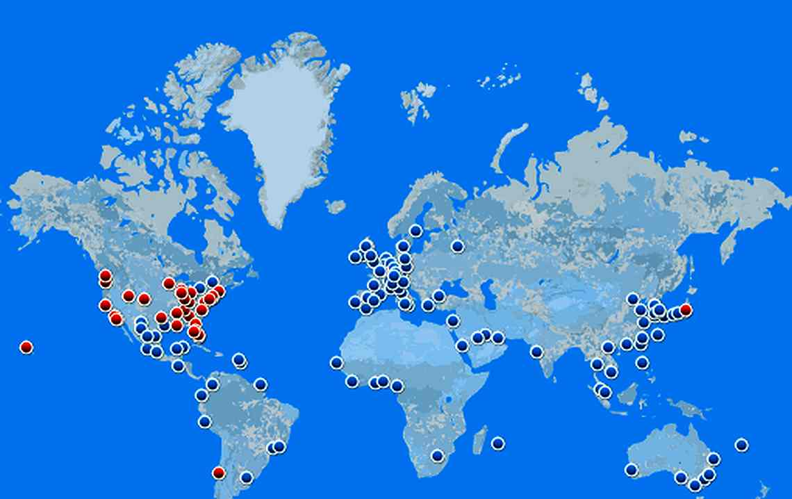 Карта маршрутов Delta AirLines