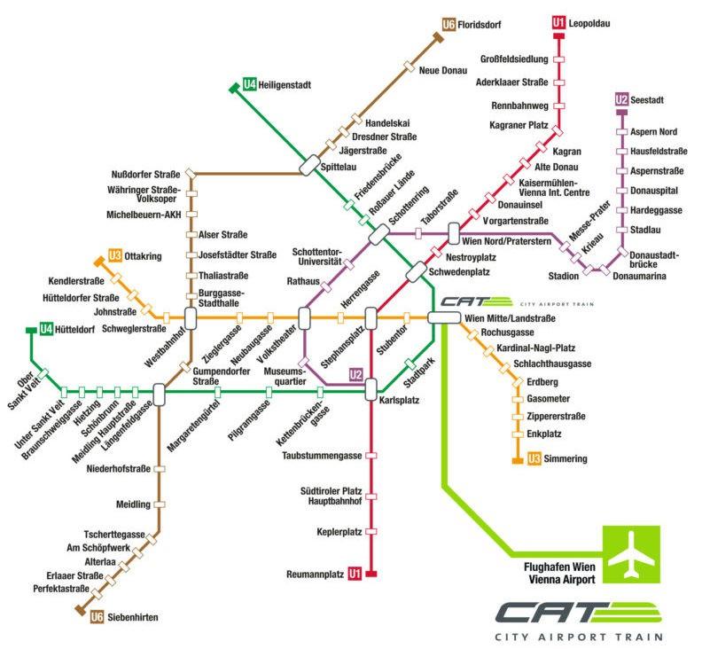 Как доехать из аэропорта Вены Швехат до центра города на поезде