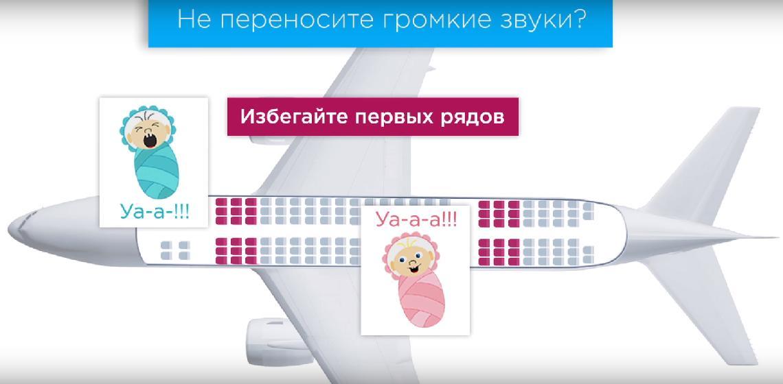 Места в передней части самолета